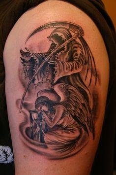 Tattoo Designs Yoga: Grim Reaper Tattoo On Back