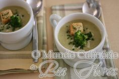 Sopa cremosa de Brócolis | O Mundo Culinario de Bia Flores