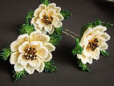 VK is the largest European social network with more than 100 million active users. Seed Bead Flowers, French Beaded Flowers, Seed Bead Patterns, Beading Patterns, Beaded Brooch, Beaded Jewelry, Beaded Crafts, Beading Projects, Beads And Wire
