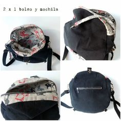 Tutorial bag 2 in Shoulder strap and backpack - Teresina, sa Crafts Mochila Tutorial, Gym Bag, Shoulder Strap, Sewing Projects, Backpacks, Quilts, Pattern, Wallets, Fashion