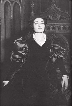 Iconic Soprano Maria Callas as Anna Bolena in Donizetti's Opera.