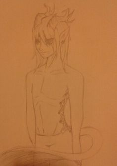 Yay, my new oc! His name is typhin and he's a created mutant that I named a Typhin. hadrah(@chuzzledoggy ) created with her awesome art skillz and creativity.(TEAMWORK!) anyways, he's  bi, 17 and has the corset piercing on his sides and back, earrings, and a lip piercing that I FORGIT TO ADD!! DAMN MYSELF. Adopted from @chuzzledoggy. I tried not to change so much of him, because he was perfect the way hadrah drew him! I hope I didn't ruin his looks to bad ;-; I tried