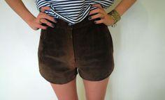 Short marrom camurça cintura alta - Exotique Brechó