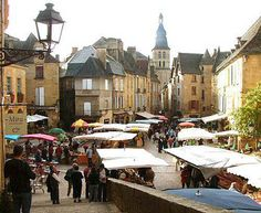 Sarlat, France my favorite little town, they have the best markets on Saturdays
