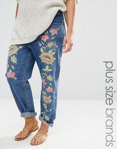 Bild 1 von Alice & You – Boyfriend-Jeans mit Blumenstickerei