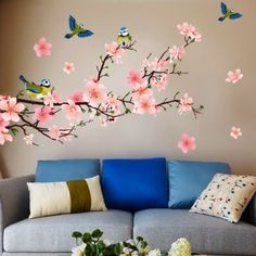 Get decorative wall painting ideas and creative design tips to colour your interior home walls Wall Decals For Bedroom, Bedroom Decor, Wall Decor, Room Wall Painting, Wallpaper Decor, Wall Murals, Wall Art, Wall Stickers, Window Stickers
