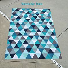 triangle quilt top by Material Girl Quilts, via Flickr