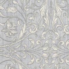Sirpi Wallpaper | Fenice Silver/Grey | 24127 – WonderWall by Nobletts Luxury Wallpaper, Vinyl Wallpaper, Wallpaper Ideas, Clearance Wallpaper, Silver Grey Wallpaper, Wonderwall, Venetian, Damask, This Is Us