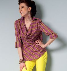 Out Of Print Misses' Tops McCall's Pattern M6604 by KlinesCorner
