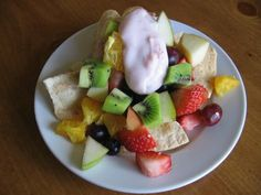 Fruit nachos and other ideas for Cinco de Mayo.  Also had a cute Mexican jumping bean painting craft.