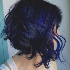 Check Out Our , Blue Black Hair How to Get It Right In 2019 Blue Black, 20 Dark Blue Hairstyles that Will Brighten Up Your Look, Black Hair Blue Highlights. Bob Hair Color, Hair Color Blue, Purple Hair, Pastel Hair, Gray Hair, Brown Hair, Dark Blue Hair Dye, Blue Ombre, Blue Hair Highlights