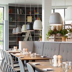 Skandinavisches Interieur im Almanak Restaurant im The Standard | creme kopenhagen