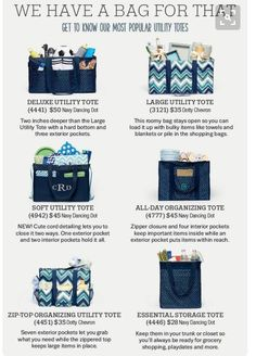 Thirty-One Gifts has a bag for everything! - Jenny Hillenburg - National Executive Director - Thirty-One Gifts - Pinsit Thirty One Uses, Thirty One Fall, Thirty One Party, Thirty One Gifts, Avon, Thirty One Organization, Organizing, Travel Organization, Organization Ideas