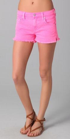 Neon Pink Studded Shorts for GIrls - Neon Pink Studded Shorts ...