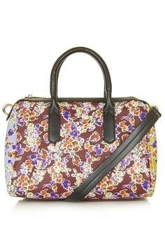 This carryall shoulder bag is fun and bright – Floral Print Shoulder Holdall - Bags