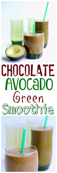 This sounds filling. Phase 3 (swap raw cacao nibs for chocolate chips; use unsweetened almond milk) This deep-dark chocolatey shake is a delicious way to get your morning healthy fat + veggies. Green Smoothie Cleanse, Best Green Smoothie, Healthy Green Smoothies, Avocado Smoothie, Easy Smoothies, Green Smoothie Recipes, Fruit Smoothies, Morning Smoothies, How To Make Smoothies