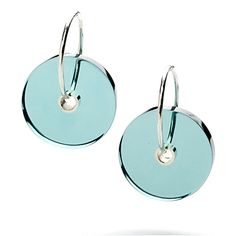 Translucent resin earrings (azure) by Loop :  limited run jewelry translucent modern jewellery earrings