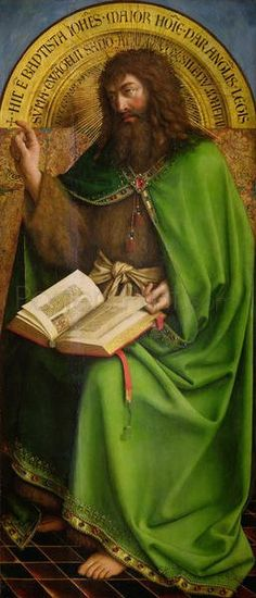 $25.99 The Ghent Altarpiece, John The Baptist, 1432 Giclee Print Poster by Hubert Eyck - Fine Art Reproduction @postersprint #Postersprint #FineArt #WallArt  #Walldecor #wallPosters #Prints #Printing #oilpainting #MuseumArt