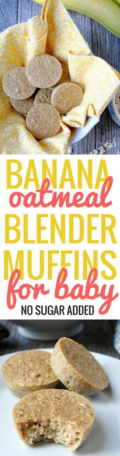 Banana Oatmeal Blender Muffins for Baby | PB Fingers