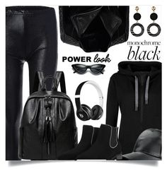 """""""Leather leggins"""" by dzenanlevic99 ❤ liked on Polyvore featuring Beats by Dr. Dre"""