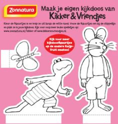 Kikker Kijkdoos plaatjes klein Frog Theme Preschool, Crafts For Kids, Arts And Crafts, Preschool Lessons, 4 Year Olds, Happy Kids, Spring Crafts, Childrens Books, Coloring Pages