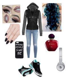 """"""""""" by xoxoxemilyxoxox ❤ liked on Polyvore featuring Frame Denim, NIKE, ncLA, Christian Dior and Beats by Dr. Dre"""
