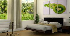 Elegant Bedroom Color Schemes with Your Favorite Color: Astonishing Floating Bed Modern Style White Minimalist Bedroom Color Schemes With Lu. Decor, Furniture, Interior, Bedroom Design, Home Decor, House Interior, Modern Bedroom, Interior Design, Bedroom Color Schemes