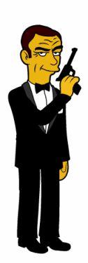 27-james bond-66 personajes y celebridades versión Simpsons