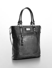 Calvin Klein Coated Black Canvas Tote Bag NWT Shipping Included $90.00