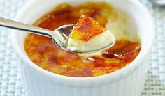 Low-fat Crème Brûlée by americastestkitchenfeed: 240 calories/serving #Diet #Creme_Brulee #americastestkitchenfeed