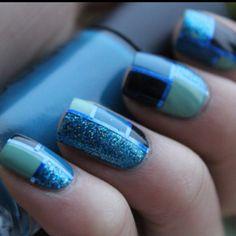 blue nail polish obsession