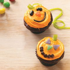 Jack-o'-Lantern Cupcakes Recipe from Taste of Home