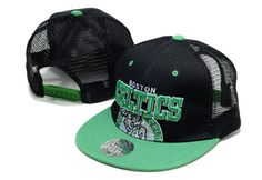 NBA Boston Celtics Snapback Hats Caps Mesh Mitchell And Ness Black 2038! Only $8.90USD