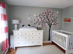 Morden Style Baby Kids Room Art Decorative Vinyl Nursery Tree Wall Sticker Falling Blossoms Cute Hedgehods Birds Tree Decal T-9