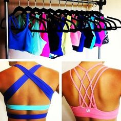 Finally some cute sports bras! So dang cute! Too bad my mega-boobs won't let me wear something like this.