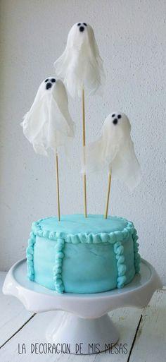 la decoración de mis mesas: Ideas para Hallowen: Toppers de fantasmas
