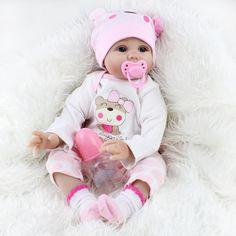 REBORN BABY GIRL DOLLS REALISTIC SOFT SILICONE VINYL BABY 22 KIDS xMAS GIFT TOYS