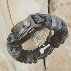Paracord Bracelet Survival Kit * EDC PREPPER * Equipped with LED Light, fire starter, knife, and other everdaycarry tools, supplies, & gear.