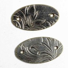 One Upcycled vintage silver-plated small oval link, The Trinket Foundry