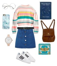 """""""What A (art) Hoe"""" by awisha216 on Polyvore featuring adidas, Miss Selfridge, Chanel, Olivia Burton, M&Co, Casetify and Kusmi Tea"""
