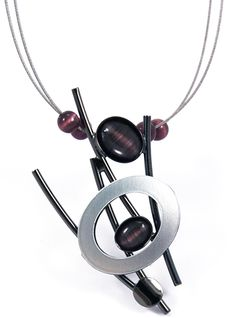 Christophe Poly Necklace in plum