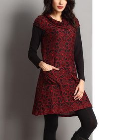 Another great find on #zulily! Red Flower Pocket Dress by Reborn Collection #zulilyfinds