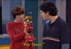 """""""Look we had two-hundred bucks, alright? Which you promptly threw away on.bubblegum, a wrist watch, a telescope, and a Mexican robot!"""" Drake and Josh are hilarious. Meme Drake, Drake Y Josh, Drake Bell, Drake Parker, Laugh Till You Cry, Have A Laugh, Icarly, Memes Gratis, Josh Peck"""