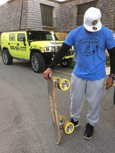 #ReggieDee knows how to hit the #streets! www.DonkBoard.com #DonkBoard #donk #landpaddle #sup #longboard #skateboard #crosstrain #exercise #NoMatterYourAge #Js #jordans