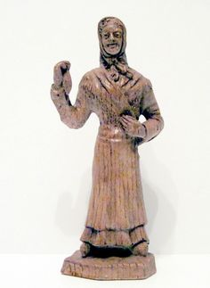 Hand Carved Wood Sculpture Woman with Head Scarf 1990-1999 reseller