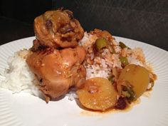 The Fork Ran Away with the Spoon: Fricase de Pollo Cubano - Cuban Chicken Fricassee