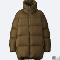 a3fd317c WOMEN U OVERSIZED DOWN JACKET, BROWN Brown Fashion, Winter Fashion, Natural  Fiber Clothing