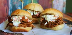 Forget the barbecue grill and use the crock-pot instead to make these pulled-pork sandwiches.