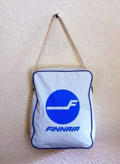 We go back in time and look at old-school airline carry-on bags.: Finnair