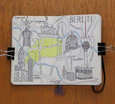 Moleskine European City Map Drawings jitesh patel illustration